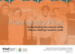 Community Foundations of Canada Vital Youth Report GenerationFlux